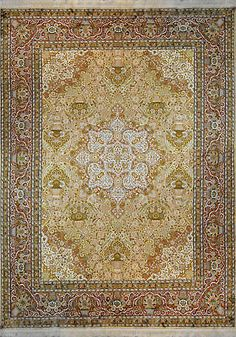 Kashmir Gardens - Circa 2000 Rug | 9 x 13 | Home Decor | Area Rugs