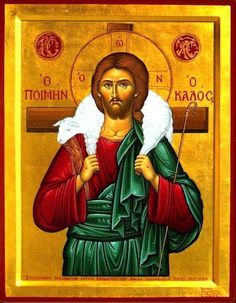"""Eastern orthodox icon of our Jesus Christ """"The Good Shepherd"""" """"The thief comes only to steal and kill and destroy; I came that they may have life, and have it abundantly.""""I am t"""