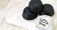 DIY coffee soap! Not just for the guys! Coffee grounds are great for cellulite too! Give them thighs a good scrub!