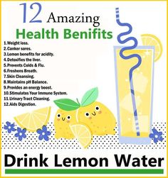 12 Amazing Health Benifits To Drink Lemon Water