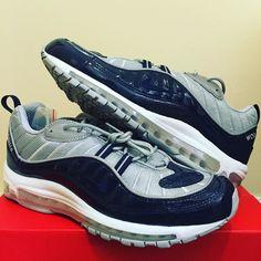 Supreme X Air Max 98 - Blue  #supreme #supremenewyork #supremecollab #supremecollection #supremeairmax98 #supremeairmax #airmax98 #solecollector #kicksonfire #kicksoftheday #sneakerfreaker #runnergang by ryanzee1