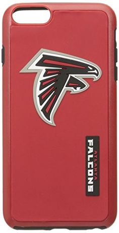 NFL Atlanta Falcons IPhone 6 Plus Dual Hybrid Case 2 PieceRed Black -- You can find out more details at the link of the image.