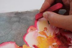 How to make your watercolor paintings pop with pastels by SANDRINE PELISSIER on ARTiful, painting demos