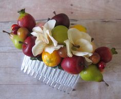 Small fruits hair Cluster Comb  Carmen Miranda by olgadesigns, $18.00