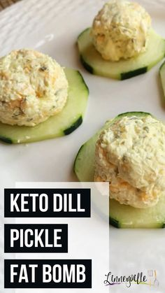 Dill pickle day bombs are savory and flavorful. Want something salty and savory to curb your cravings? This will do the trick. Great for keto meal plan for beginners / keto fat bomb for beginners.