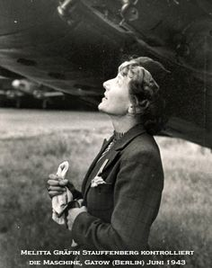 January 9, 1903 Dive bomb pilot Melitta Schiller Von Stauffenberg was born. Although she wanted to work for the Red Cross, Stauffenberg was ordered to serve in WWII as a Luftwaffe test pilot. By flying over 2,500 sorties she saved her family, of Jewish descent, from being deported to prison camps. In 1944, Stauffenberg's brothers-in-law were executed for their attempt on Hitler's life. She was arrested for the plot but released and ordered to continue flying.