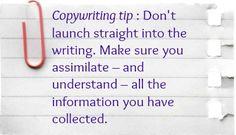 #Copywriting tip. You can find more on my Facebook page: https://www.facebook.com/CaroleSeawertMarketingCopywriter