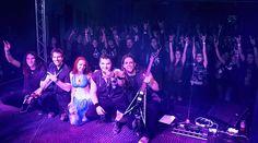 #aliatempora #live #show #stage #onstage #redhead #band #guitarist #guitar #longhair #metal #rock #symphonic #electro #lights #fans #crowd #blue