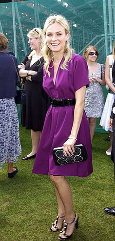 Diane Kruger in Jean Paul Gaultier - At 'Rock The Polo : The Cartier International Day' in Windsor, England.  (July 2007)