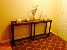 Entryway table made for a client...