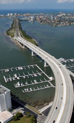 Bridge and causeway to Clearwater Beach