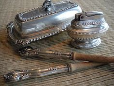 Vintage silverware butterdish, etc. Question-is it safe to eat off or should it be used in another fashion ?