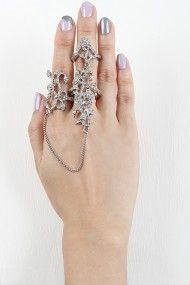 Filigree Two Finger Ring