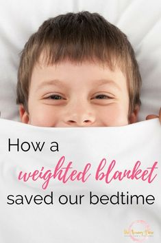 Using a weighted blanket at bedtime has dramatically improved sleep in our  house. Here s how aa40b8c69