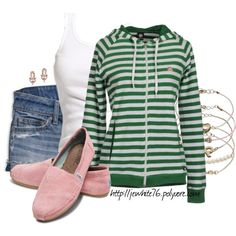 Pink and Green Casual, created by jewhite76 on Polyvore