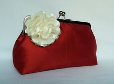 Burnt Orange Bridal Clutch Clutch Purse Wedding by TheHeartLabel