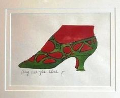 Anyone for Shoes | Andy Warhol, Anyone for Shoes (1955) ♣️Fosterginger.Pinterest.Com♠️ More Pins Like This One At FOSTERGINGER @ PINTEREST No Pin LimitsFollow Me on Instagram @  FOSTERGINGER75 and ART_TEXAS