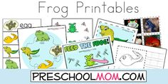 Free Frog Life Cycle Printables, File Folder Games, Photo Matching and more!  Tons of Free Printables from www.PreschoolMom.com