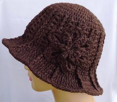 Ridge Hat with Brim - Love this kooky-looking hat.