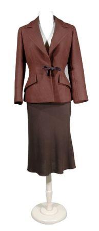 Prada Chocolate Brown Wool Suit