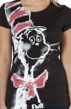 Blackboard The Cat In The Hat T-Shirt: Dr Seuss Juniors T-shirt