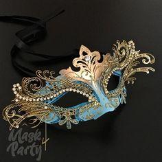 Blue Masquerade Masks, Couples Masquerade Masks, Masquerade Party Outfit, Masquerade Costumes, Masquerade Ball Dresses, Mascarade Mask, Maskerade Outfit, The Mask Costume, Blue Mask