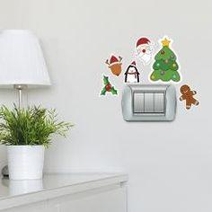 Personaggi di Natale Christmas characters Adesivo per interruttore, spina, placca - Light Switch Sticker