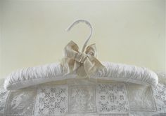 Padded Hanger Silk Champagne Dupioni Ribbon by tokyoblues on Etsy