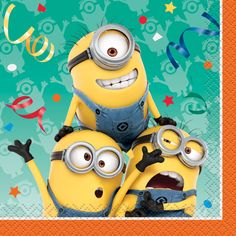 Minions Small Beverage Party Napkins 2Ply 16CT