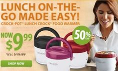 Stop using Microwaves to heat your lunch! Crock-Pot Lunch Crock for $9.99. That's 50% off!