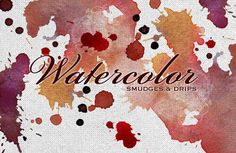 Free Watercolor Smudges – Vectors, Textures and Brushes