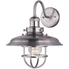 Maxim M25091SN Mini Hi-Bay 1 Bulb Wall Sconce - Satin Nickel