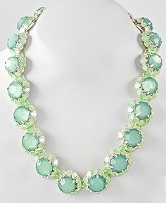 NEW:  Painted Garden Mint and SIlver Necklace $34.50 Free US Shipping www.popofchic.com