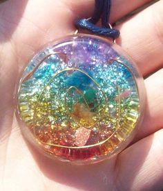 7 Chakras Orgone Orgonite Energy Healing Pendant. $24.99, via Etsy.