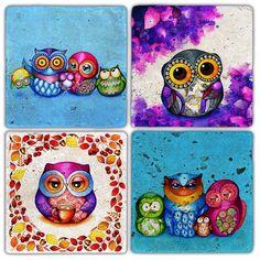 Oscar Stone  Color Mr.Bird Bardak Altlığı : 32,90 TL | evmanya.com