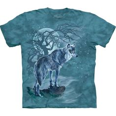 Wolf Tree Silhouette T-Shirt