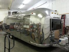 After pic- Our very patient detailer buffed this Classic Airstream untill it looked shiny and new Mobile Rv Repair, Rv Parts, Airstream, Colorado Springs, Classic, Home, Derby, Ad Home, Homes