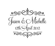 Personalized wedding rubber stamps W31 by mycustomstamps on Etsy, $7.50