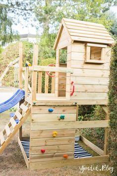 A climbing tower with slide, sandpit, swing and play house - our experience with. - A climbing tower with slide, sandpit, swing and play house – our experience with the Wickey play -