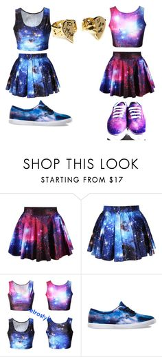 """GALAXY BESTIE (left) Hailey and me(right)"" by sweetea02 ❤ liked on Polyvore featuring Vans"