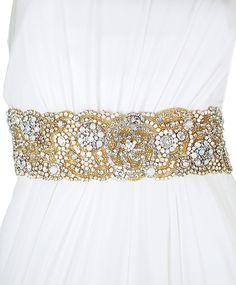 "One of a Kind ""Mabel"" Crystal Sash | Kirsten Kuehn || handmade crystal bridal sashes & embellished accessories"