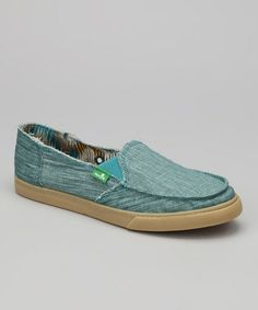 Love this Turquoise Standard Boho Slip-On Shoe - Women by Sanuk on #zulily! #zulilyfinds