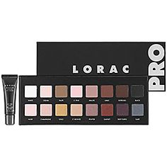 LORAC - PRO Palette (Eyeshadow Palette) Lorac is my new favorite makeup brand! This palette offers so many great colors for any skin type. It even made me start liking matte eyeshadow. The pigment in the shimmer eyeshadows are unbeatable and have zero fall-out. 5 stars.