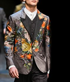 Just saw this in GQ (Saks Ad)...I will sell my soul for it...any takers? Hello Satan?  Fashion & Lifestyle: Dolce & Gabbana Floral Print Blazers... Fall 2013 Menswear