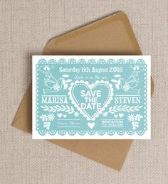 Mexican Inspired Papel Picado Save the Date