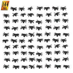 72 Fake Plastic Spiders 6 Dozen Gag Scary Decoration Halloween Prop NEW