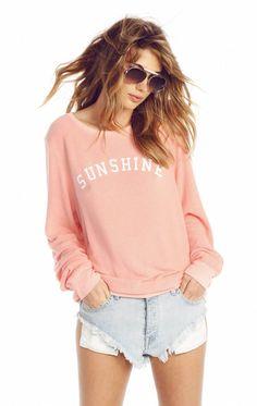Wildfox Couture Sunshine - White Wine Sweatshirt