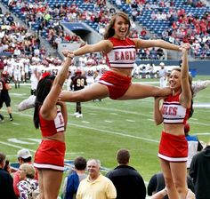 My team, Eastern Washington University Cheerleaders