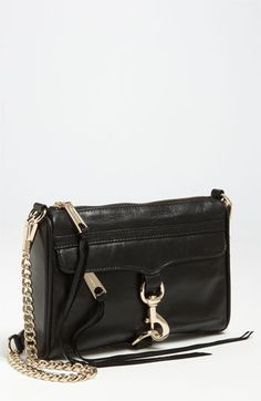 Rebecca Minkoff 'Mini M.A.C.' Shoulder Bag available at #Nordstrom WANT WANT want WANT BLACK W/ GOLD HW