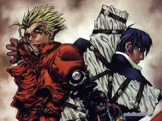 Trigun. A unique blend of sci fi and western about a man named Vash the Stampede with a 60 double billion dollar bounty. #trigun #anime #manga